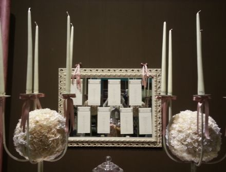 Allestimento matrimonio rosa antico e cacao